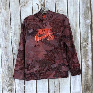 Nike SB Therma Fit Boys Red Printed Hoodie
